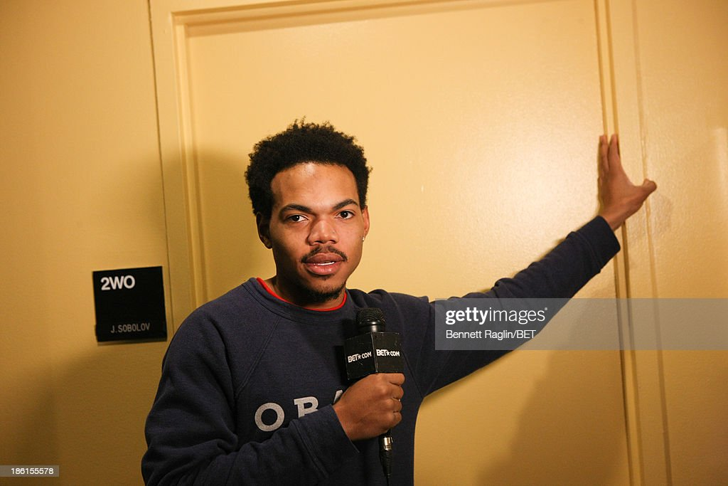 Recording artist Chance the Rapper visits 106 & Park at 106 & Park studio on October 28, 2013 in New York City.