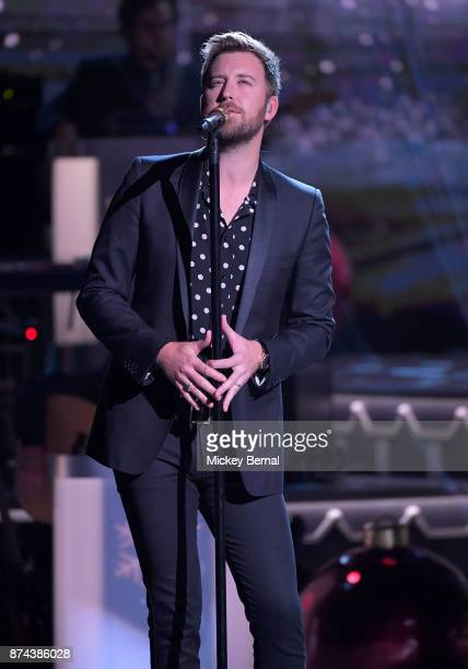 Recording artist Charles Kelly of Lady Antebellum performs during CMA 2017 Country Christmas at The Grand Ole Opry on November 14 2017 in Nashville...