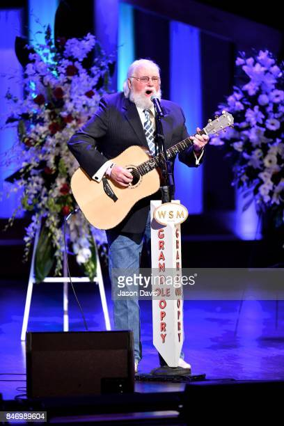 Recording Artist Charlie Daniels performs during the Celebration Of Life For Troy Gentry at Grand Ole Opry House on September 14 2017 in Nashville...