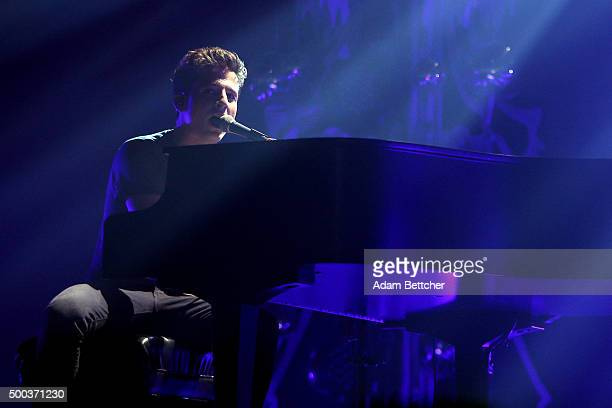 Recording artist Charlie Puth performs onstage during 1013 KDWB's Jingle Ball 2015 at Xcel Energy Center on December 7 2015 in St Paul Minnesota