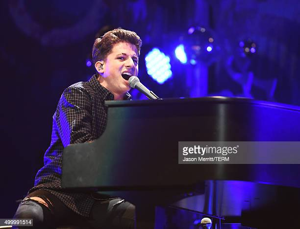 Recording artist Charlie Puth performs onstage during 1027 KIIS FM's Jingle Ball 2015 Presented by Capital One at STAPLES CENTER on December 4 2015...