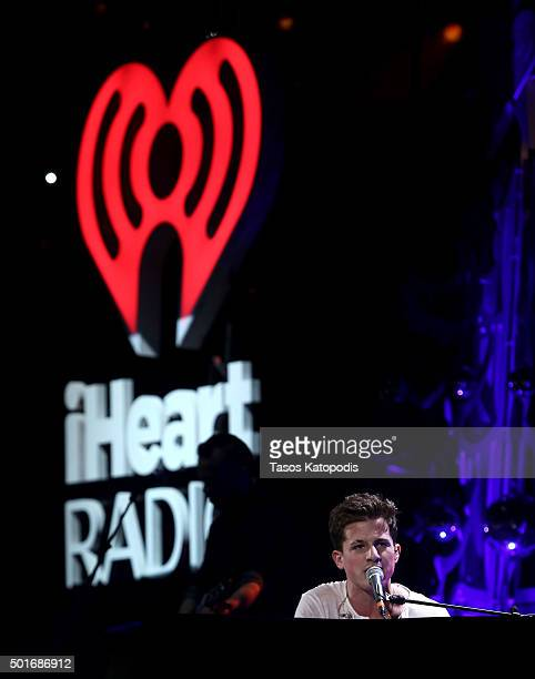 Recording artist Charlie Puth performs onstage during 1035 KISS FM's Jingle Ball 2015 presented by Capital One at Allstate Arena on December 16 2015...