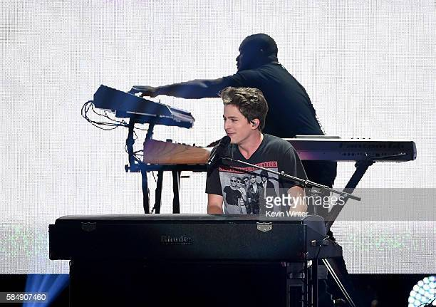 Recording artist Charlie Puth performs onstage during Teen Choice Awards 2016 at The Forum on July 31 2016 in Inglewood California