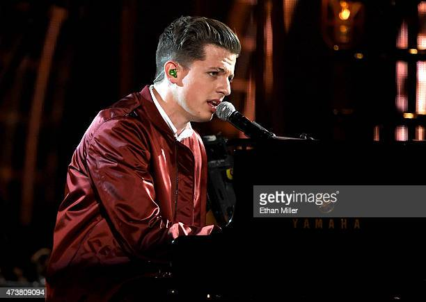 Recording artist Charlie Puth performs onstage during the 2015 Billboard Music Awards at MGM Grand Garden Arena on May 17 2015 in Las Vegas Nevada