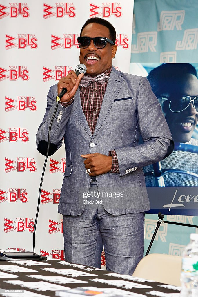Recording artist Charlie Wilson speaks to fans during his visit to J&R Music World on January 29, 2013 in New York City.