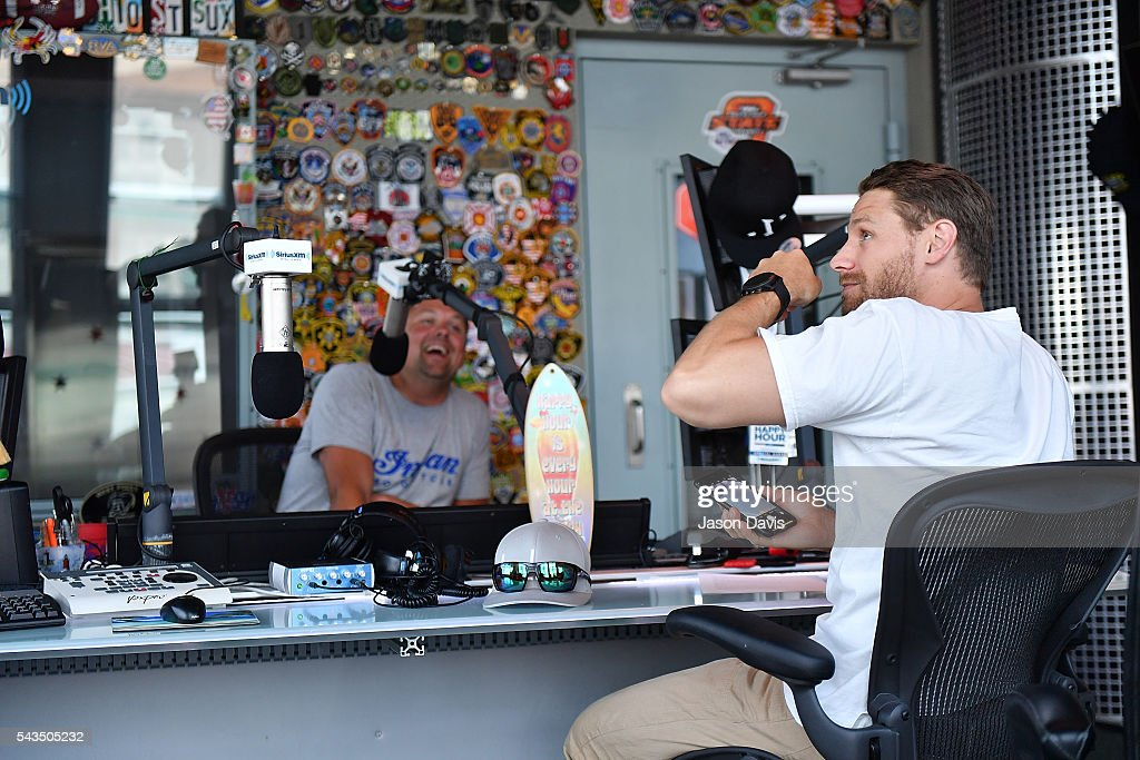 Recording Artist Chase Rice visits SiriusXM Host Storme Warren at SiriusXM Studios on June 28, 2016 in Nashville, Tennessee.