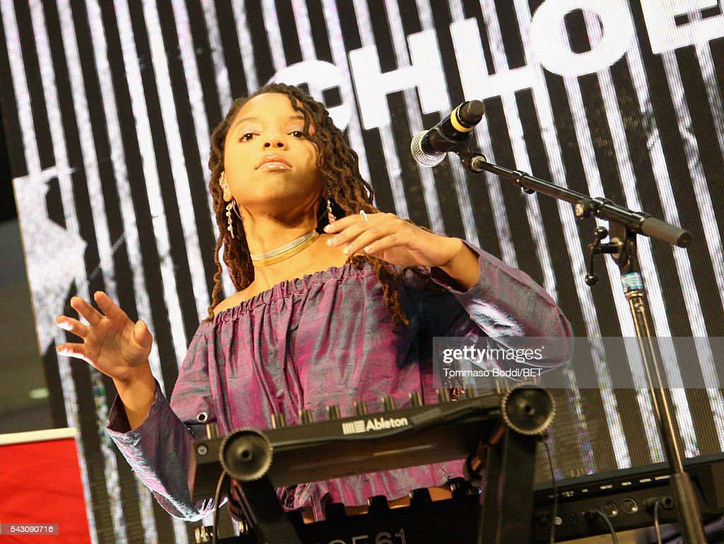 Recording artist Chloe Bailey of Chloe x Halle performs onstage at the Coke music studio during the 2016 BET Experience on June 25, 2016 in Los Angeles, California.