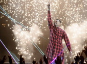 Recording artist Chris Brown performs onstage during the BET AWARDS '14 at Nokia Theatre LA LIVE on June 29 2014 in Los Angeles California