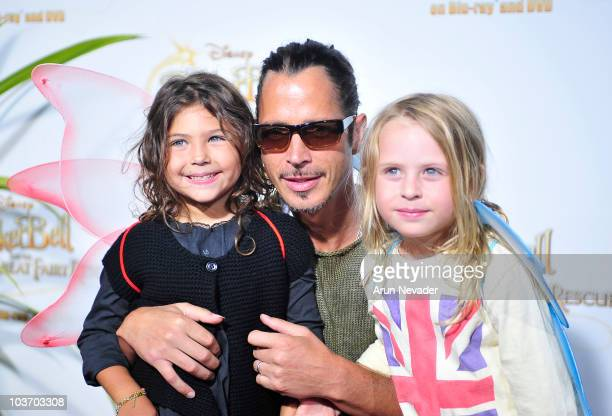 Recording artist Chris Cornell and guests attend PicnicInThePark Premiere Of 'Tinkerbell' at La Cienega Park on August 28 2010 in Beverly Hills...