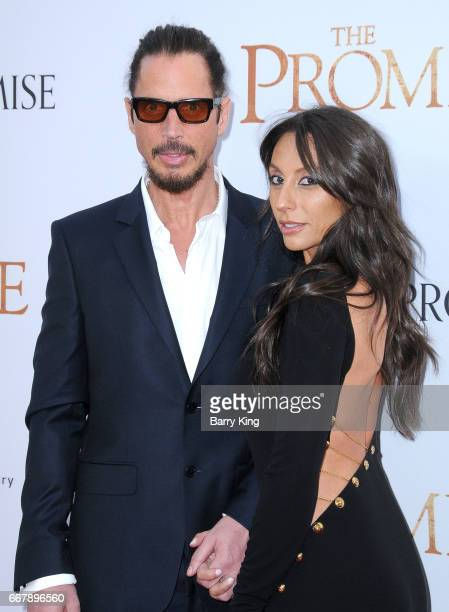 Recording artist Chris Cornell and wife Vicky Karayiannis attend premiere of Open Roads Films' 'The Promise' at TCL Chinese Theatre on April 12 2017...