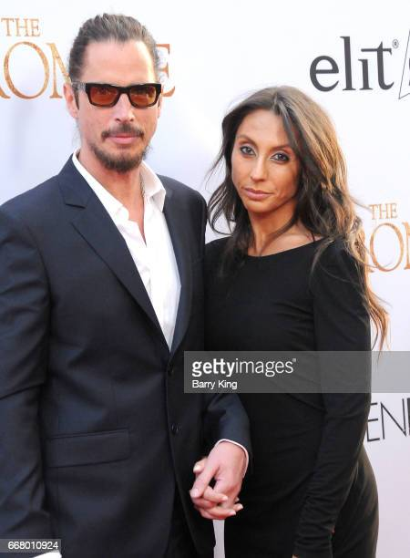 Recording artist Chris Cornell and wife Vicky Karayiannis attend premiere of Open Road Films' 'The Promise' at TCL Chinese Theatre on April 12 2017...