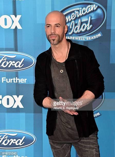 Recording artist Chris Daughtry attends FOX's 'American Idol' Finale For The Farewell Season at Dolby Theatre on April 7 2016 in Hollywood California