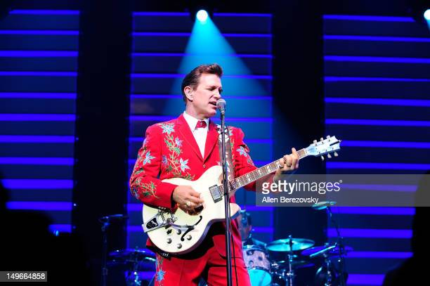 Recording artist Chris Isaak performs at City National Grove of Anaheim on August 1 2012 in Anaheim California