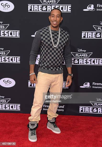 Recording artist Chris 'Ludacris' Bridges attends the premiere of Disney's 'Planes Fire Rescue' at the El Capitan Theatre on July 15 2014 in...