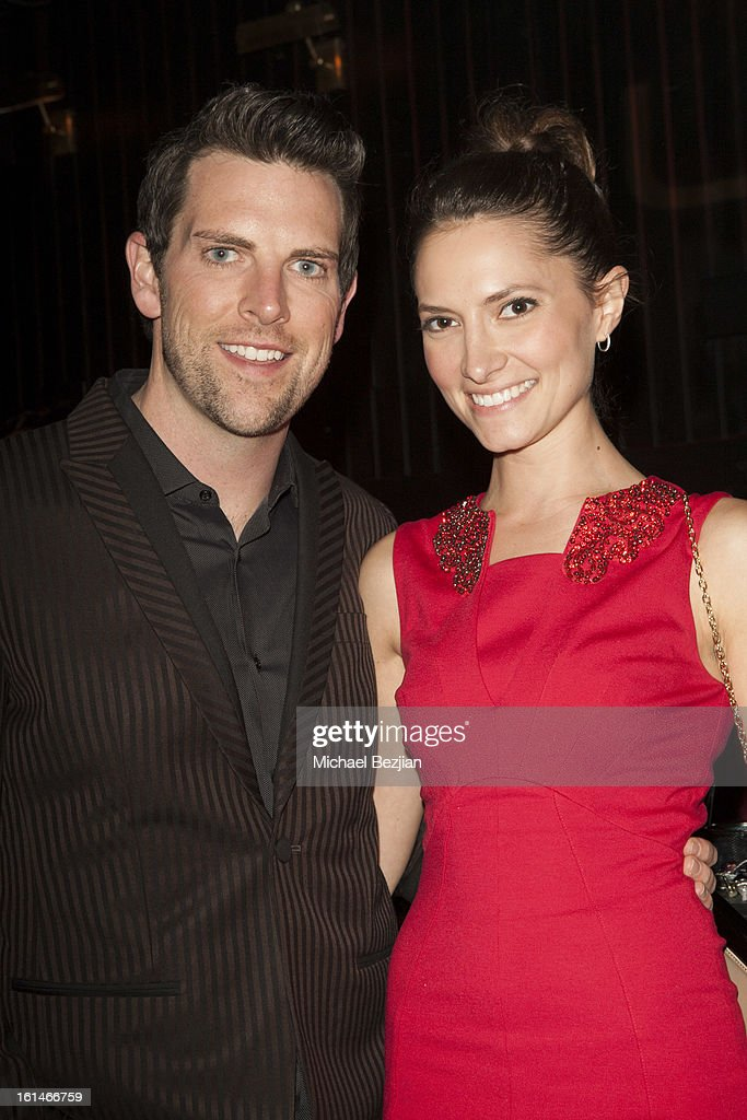 Recording Artist Chris Mann and Fiance Laura Perloe attend Republic Records Post Grammy Party at The Emerson Theatre on February 10, 2013 in Hollywood, California.