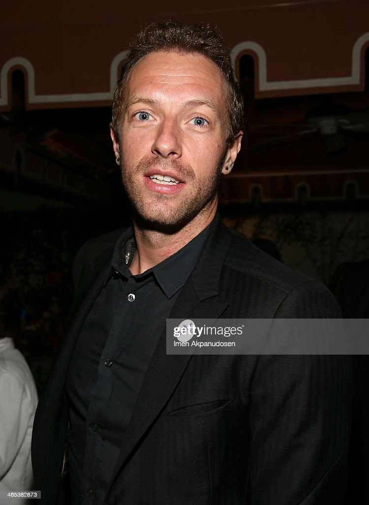 Recording artist Chris Martin attends the Warner Music Group annual GRAMMY celebration on January 26 2014 in Los Angeles California