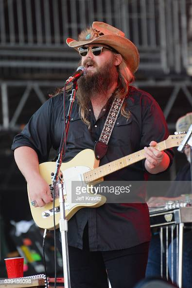 Recording artist Chris Stapleton performs onstage at What Stage during Day 3 of the 2016 Bonnaroo Arts And Music Festival on June 9 2016 in...