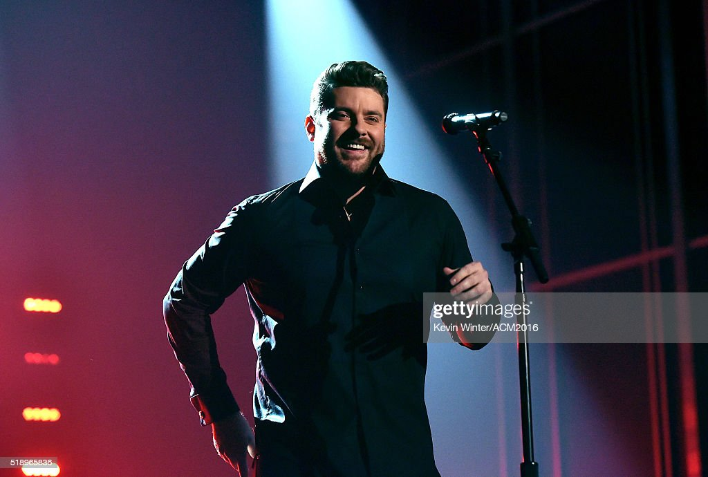 Recording artist Chris Young performs onstage during the 51st Academy of Country Music Awards at MGM Grand Garden Arena on April 3 2016 in Las Vegas...