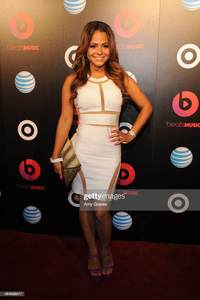 Recording artist <a gi-track='captionPersonalityLinkClicked' href=/galleries/search?phrase=Christina+Milian&family=editorial&specificpeople=171274 ng-click='$event.stopPropagation()'>Christina Milian</a> attends Beats Music Launch Party At Belasco Theatre at Belasco Theatre on January 24, 2014 in Los Angeles, California.