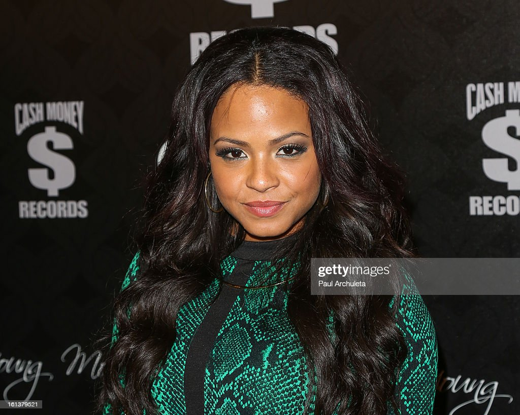 Recording Artist <a gi-track='captionPersonalityLinkClicked' href=/galleries/search?phrase=Christina+Milian&family=editorial&specificpeople=171274 ng-click='$event.stopPropagation()'>Christina Milian</a> attends the Cash Money Records 4th annual Pre-GRAMMY Awards party on February 9, 2013 in West Hollywood, California.