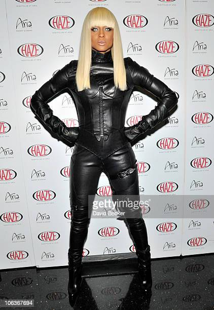 Recording artist Ciara arrives to celebrate her birthday at Haze Nightclub at the Aria Resort Casino at CityCenter on October 29 2010 in Las Vegas...