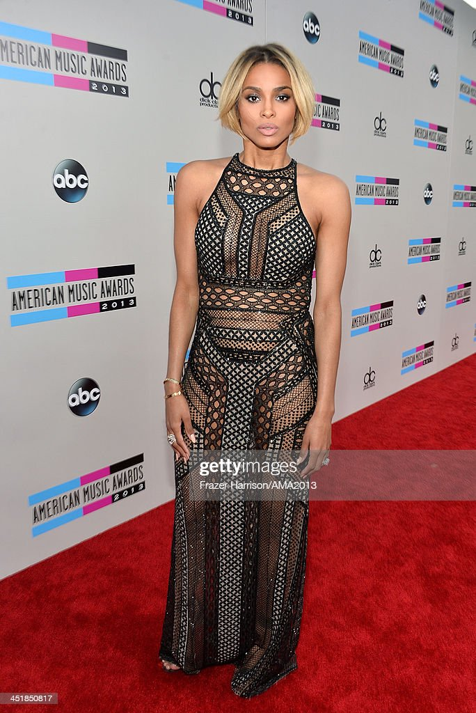 Recording artist <a gi-track='captionPersonalityLinkClicked' href=/galleries/search?phrase=Ciara+-+Singer&family=editorial&specificpeople=11647122 ng-click='$event.stopPropagation()'>Ciara</a> attends the 2013 American Music Awards at Nokia Theatre L.A. Live on November 24, 2013 in Los Angeles, California.