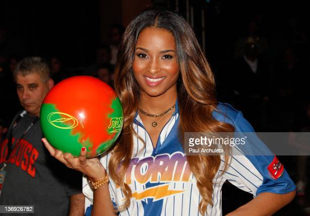 Recording Artist Ciara attends the 4th Annual PBA Celebrity Invitational at Lucky Strike Lanes at LA Live on January 12 2012 in Los Angeles California