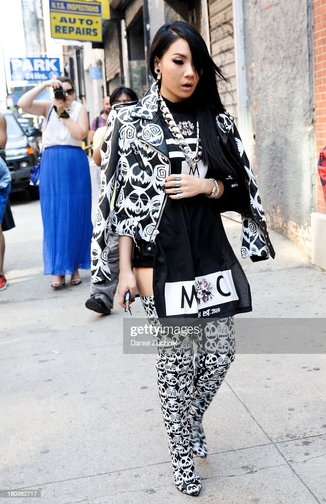 Recording artist CL is seen outside the Jeremy Scott show on September 11, 2013 in New York City.