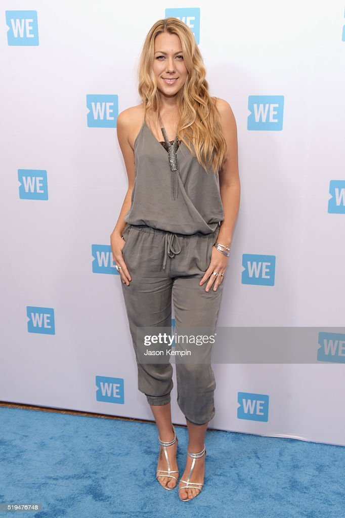 Recording artist Colbie Caillat attends the WE Day Celebration Dinner at The Beverly Hilton Hotel on April 6 2016 in Beverly Hills California