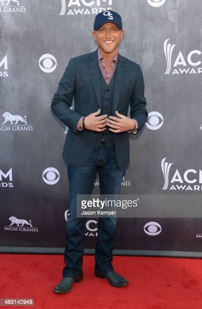 Recording artist Cole Swindell attends the 49th Annual Academy Of Country Music Awards at the MGM Grand Garden Arena on April 6 2014 in Las Vegas...