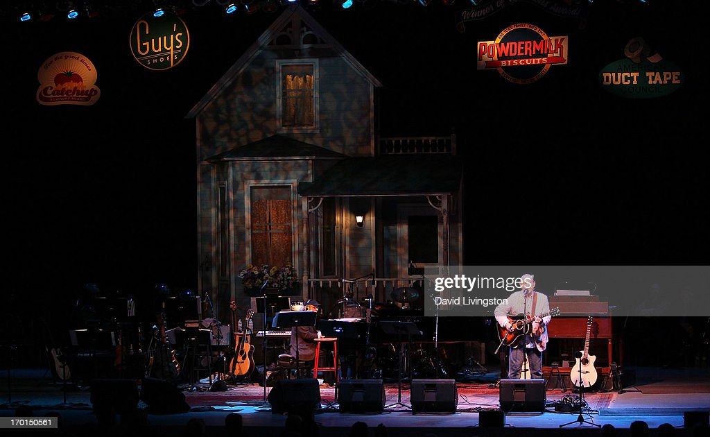 Recording artist Colin Hay performs during A Prairie Home Companion taping at the Greek Theatre on June 7, 2013 in Los Angeles, California.