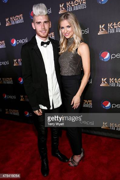 Recording artist Colton Dixon and Annie Coggeshall attend the 3rd Annual KLOVE Fan Awards at the Grand Ole Opry House on May 31 2015 in Nashville...