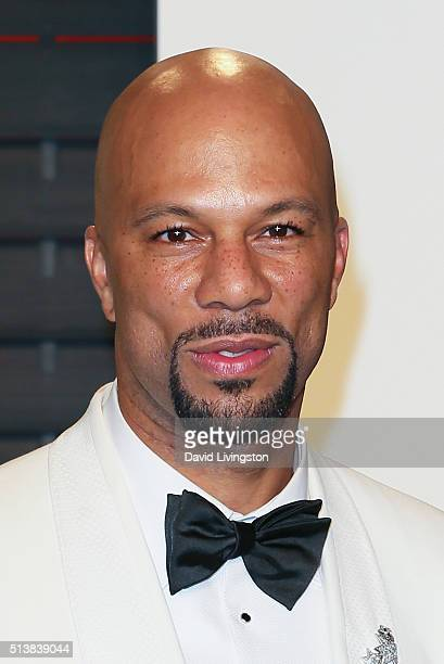 Recording artist Common arrives at the 2016 Vanity Fair Oscar Party Hosted by Graydon Carter at the Wallis Annenberg Center for the Performing Arts...