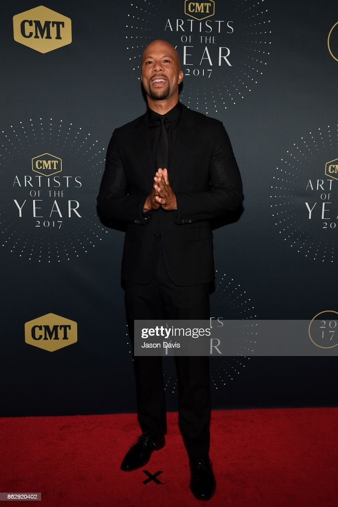 Recording Artist Common arrives at the 2017 CMT Artists Of The Year Awards Show at Schermerhorn Symphony Center on October 18, 2017 in Nashville, Tennessee.