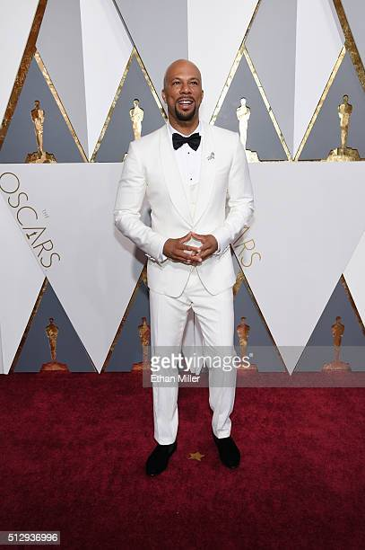 Recording artist Common attends the 88th Annual Academy Awards at Hollywood Highland Center on February 28 2016 in Hollywood California
