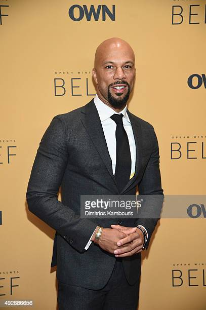 Recording artist Common attends the 'Belief' New York premiere at TheTimesCenter on October 14 2015 in New York City