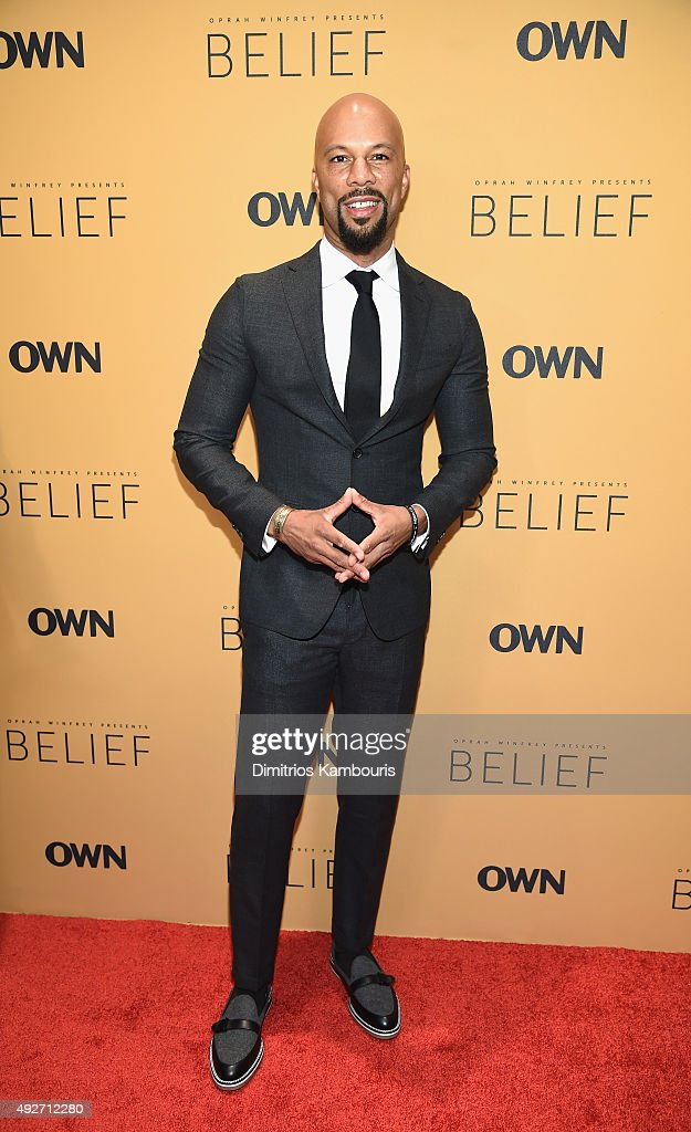 Recording artist Common attends the 'Belief' New York premiere at TheTimesCenter on October 14, 2015 in New York City.