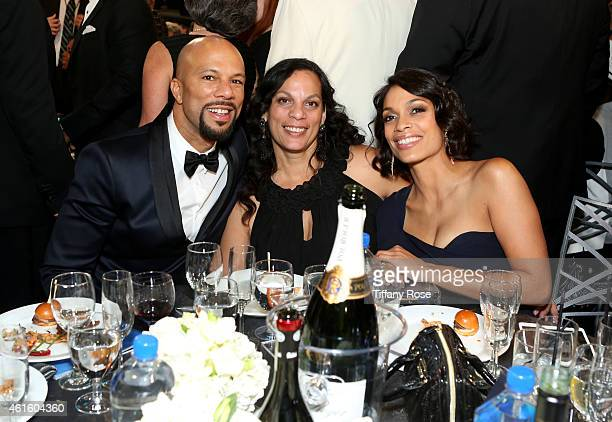 Recording artist Common Isabel Celeste and Rosario Dawson attend the 20th annual Critics' Choice Movie Awards at the Hollywood Palladium on January...