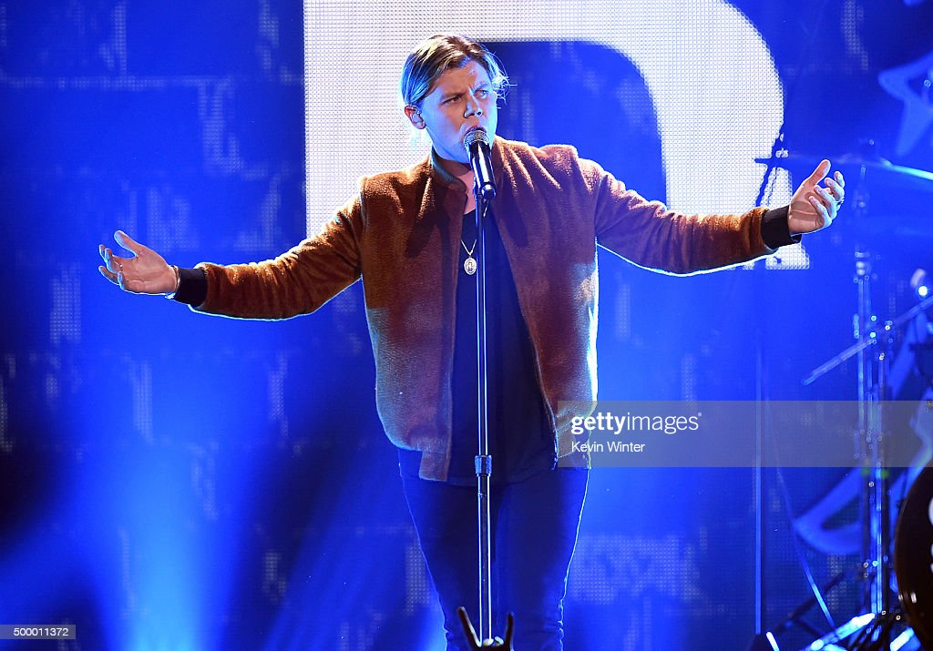 Recording artist Conrad Sewell performs onstage during 102.7 KIIS FM's Jingle Ball 2015 Presented by Capital One at STAPLES CENTER on December 4, 2015 in Los Angeles, California.