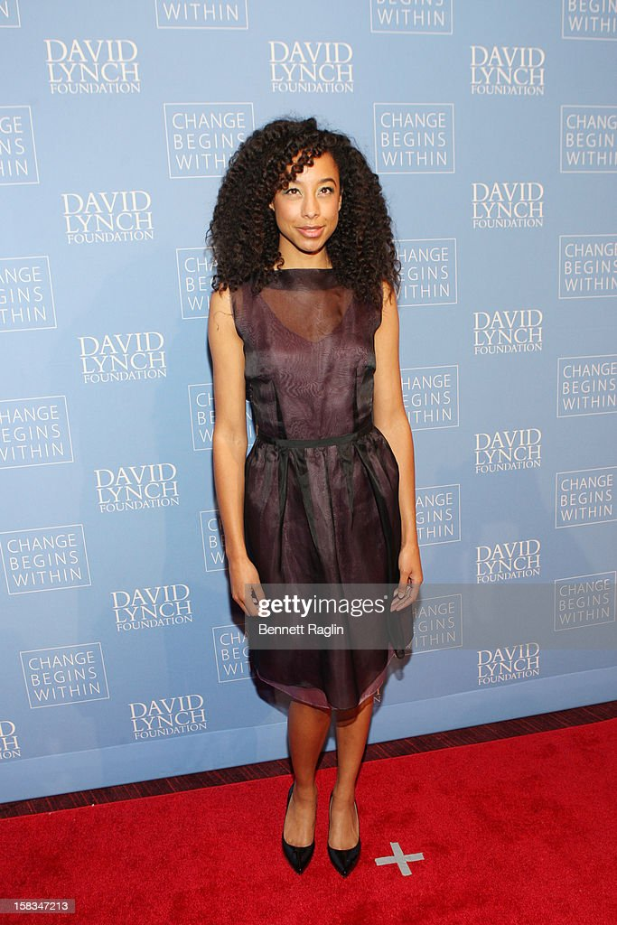 Recording artist Corinne Bailey Rae attends The David Lynch Foundation Hosts 'An Intimate Night Of Jazz' at Frederick P. Rose Hall, Jazz at Lincoln Center on December 13, 2012 in New York City.