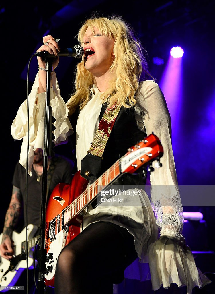 Recording artist Courtney Love performs at Vinyl inside the Hard Rock Hotel & Casino during the venue's anniversary celebration on August 22, 2013 in Las Vegas, Nevada.
