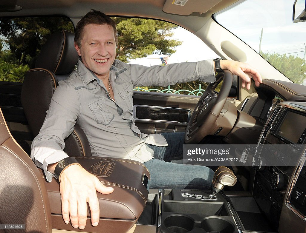 Recording artist <a gi-track='captionPersonalityLinkClicked' href=/galleries/search?phrase=Craig+Morgan+-+Singer&family=editorial&specificpeople=238953 ng-click='$event.stopPropagation()'>Craig Morgan</a> in a Dodge Ram truck for the 47th Annual Academy of Country Music Awards on April 1, 2012 in Las Vegas, Nevada.