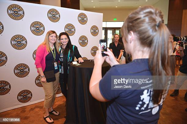 Recording Artist Crystal Gayle Signs Copies Of Her CD 'The Best of Crystal Gayle' At The Country Music Hall of Fame and Museum at Country Music Hall...