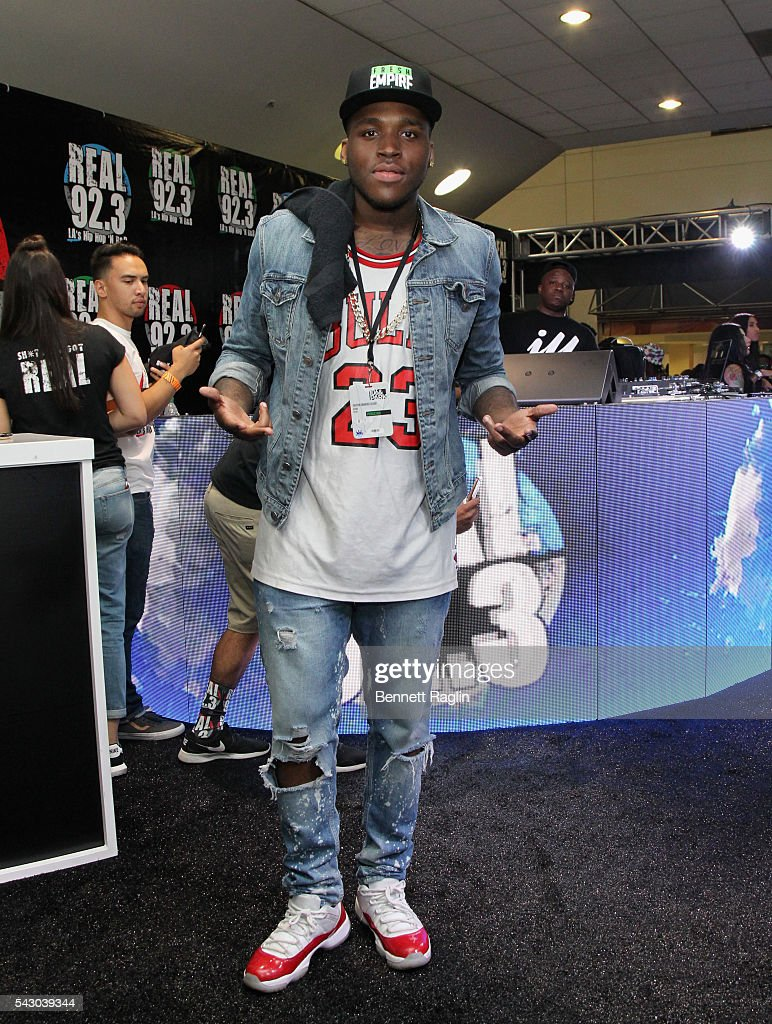 Recording artist D Low attends SneakerCon presented by Sprite, Rush Card, & FDA during the 2016 BET Experience at Los Angeles Convention Center on June 25, 2016 in Los Angeles, California.