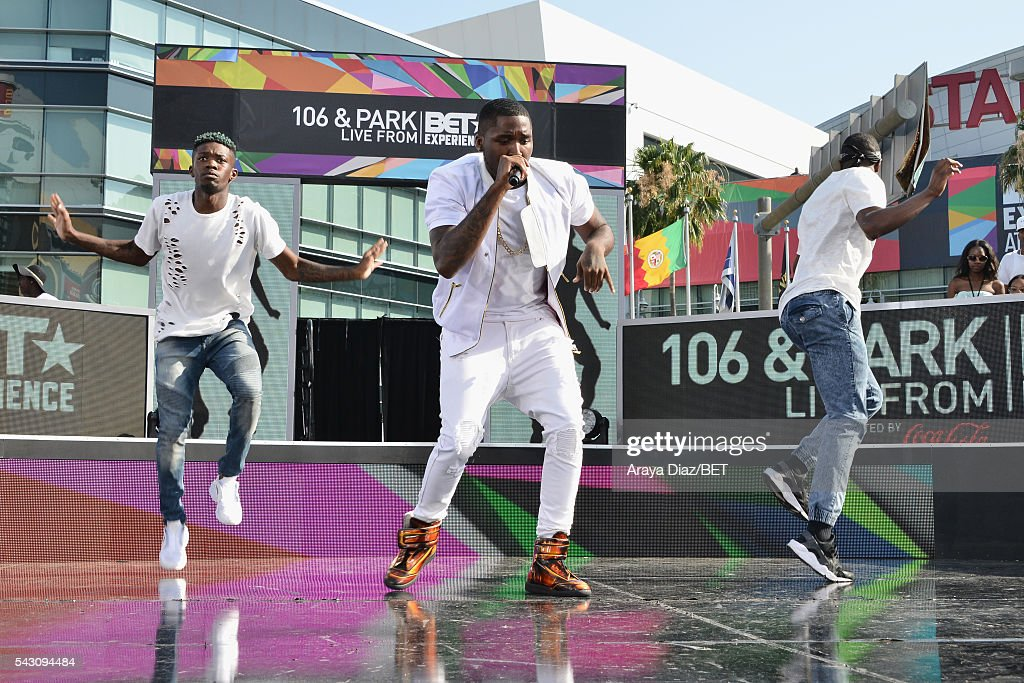 Recording artist D Low performs onstage at 106 & Park Sponsored by Coca-Cola during the 2016 BET Experience on June 25, 2016 in Los Angeles, California.