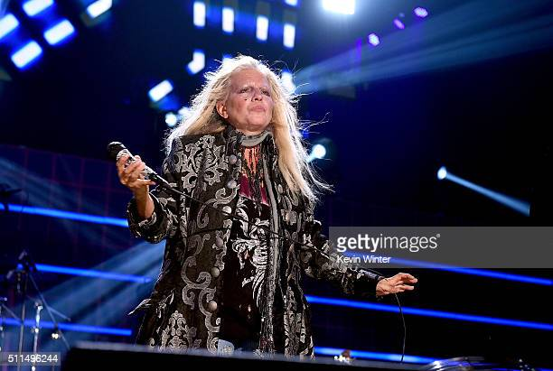 Recording artist Dale Bozzio of music group Missing Persons performs onstage during the first ever iHeart80s Party at The Forum on February 20 2016...