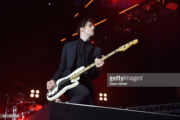 Recording artist Dallon Weekes of music group Panic at the Disco performs onstage at KROQ Weenie Roast 2016 at Irvine Meadows Amphitheatre on May 14...