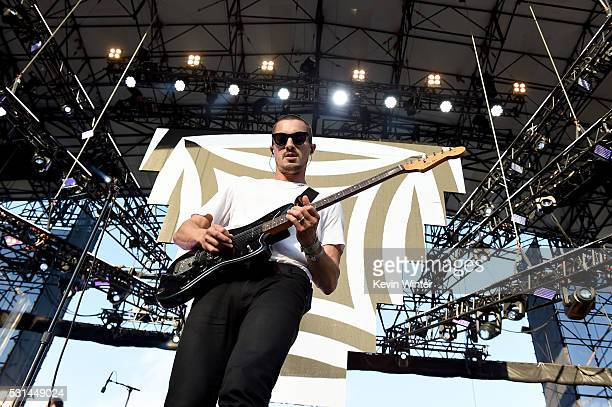 Recording artist Dann Gallucci of music group Cold War Kids performs onstage at KROQ Weenie Roast 2016 at Irvine Meadows Amphitheatre on May 14 2016...