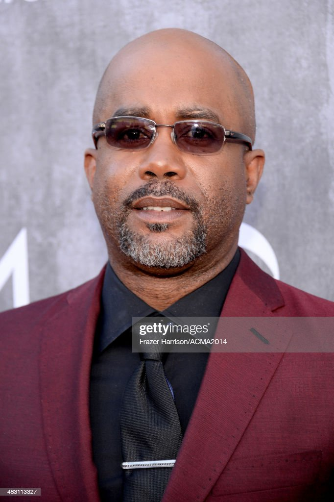 Recording artist Darius Rucker attends the 49th Annual Academy of Country Music Awards at the MGM Grand Garden Arena on April 6 2014 in Las Vegas...