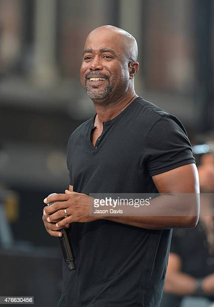 Recording Artist Darius Rucker performs on the outside stage at the 2015 CMT Music awards at the Bridgestone Arena on June 10 2015 in Nashville...